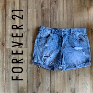 Forever 21 Denim Distressed Cut-off Shorts, Sz 29